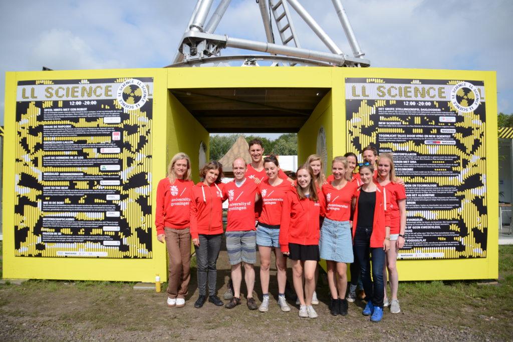 Foto Team Speechlab Groningen op Lowlands
