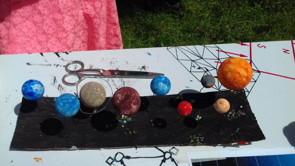 Foto van piepschuim planetenstelsel