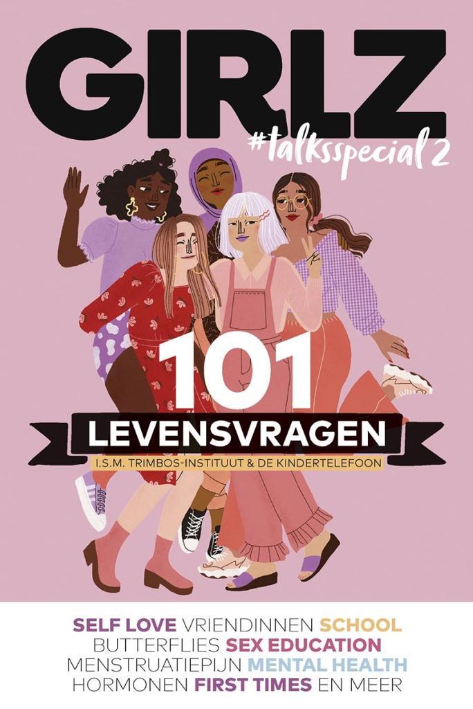 Illustratie van zes meisjes. Bovenaan de poster staat Girlz geschreven