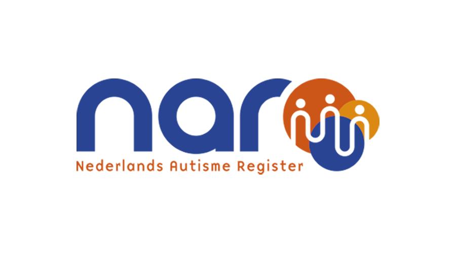 Logo Nar. NAR uitgeschreven in blauw