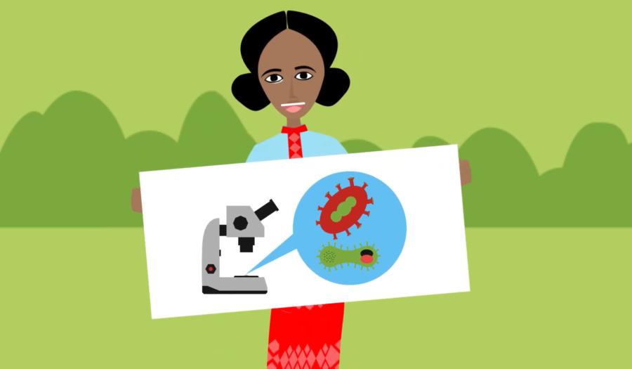 Screenshot uit educatieve animatie Ethiopia mortality rate