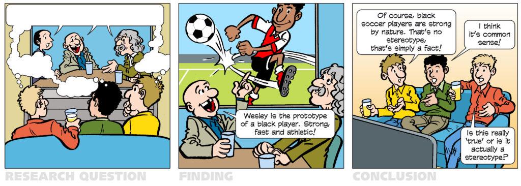 Strip over racistische vraagstukken in voetbal