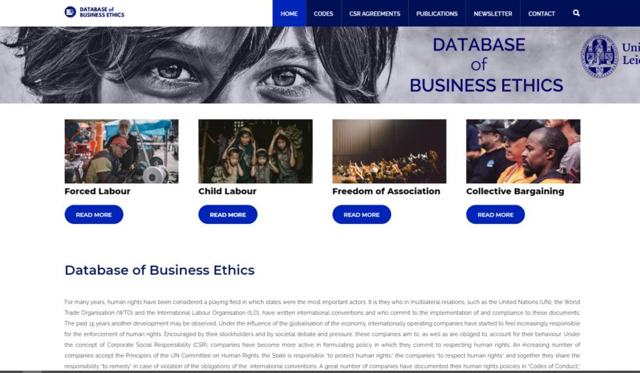 Screenshot Database of Ethics