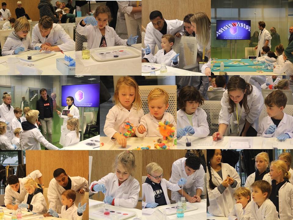 Kinderen tijdens workshop
