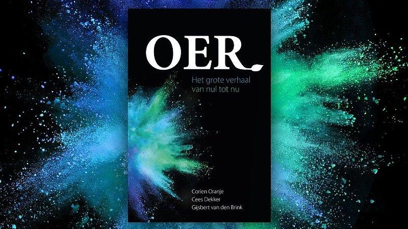 Cover van boek toont een oerknal in blauw en groen